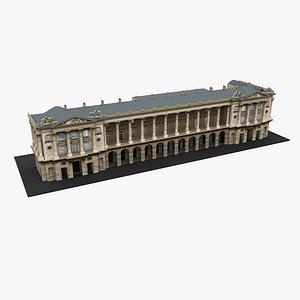 3D Typical Parisian Apartment Building 36 model