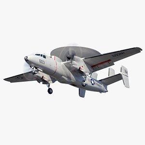 3D hawkeye aircraft
