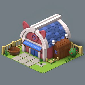 3D isometric pig house games