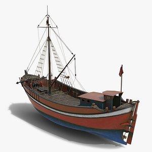 boat turkish 3D model