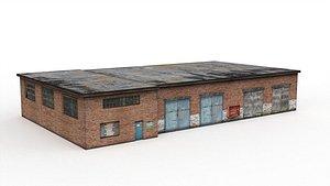 Tractor garage 3D model