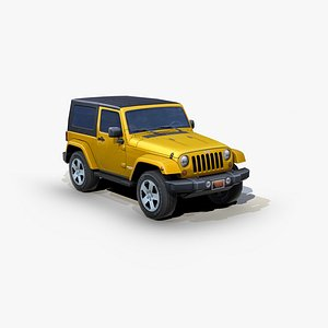 3D model jeep wrangler sport suv