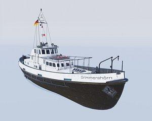 3D pilot boat