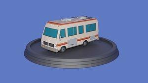 Low poly Camper-Van 3D model