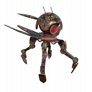 3D Military robot scout Low-poly 3D model model