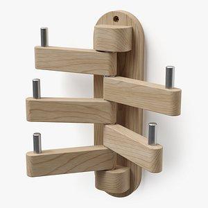 wall coat rack 3D model
