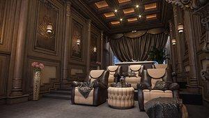 luxury movie theater 3D model