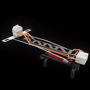 3D roof-mounted pantograph sls model