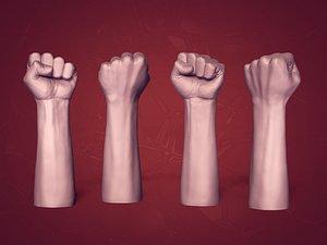3D Fist Figurine model