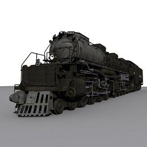 3D Steam Engine Locomotive Big Boy 4014 model