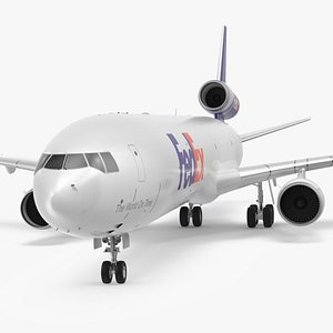 McDonnell Douglas MD11 Tri Jet Airliner FedEx 3D