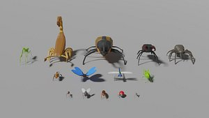 3D Insects Pack model