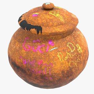 3D unique clay jar