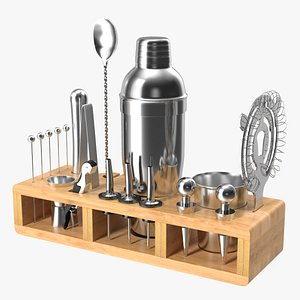 3D Complete Bartender Kit 21 Pieces Stainless Steel