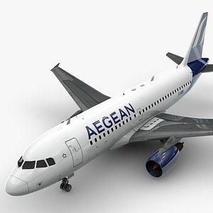 3D AirbusA319-100Aegean AirlinesL1454