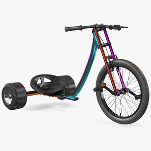 Razor DXT Drift Trike Colored Chrome 3D model