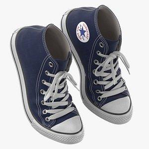 3D Basketball Shoes Bent Dark Blue