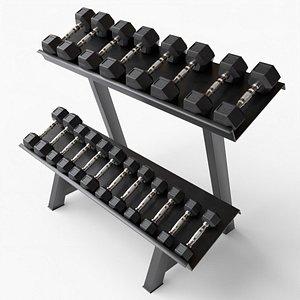 Gym Dumbell Set 005 3D model