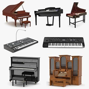Musical Keyboard Instruments Collection 5 3D