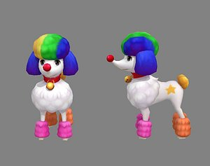 Cartoon puppy - Poodle - baby dog 3D model