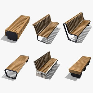 Park Benches Collection 3D