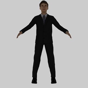 14 Years Old Rigged Boy 3D model