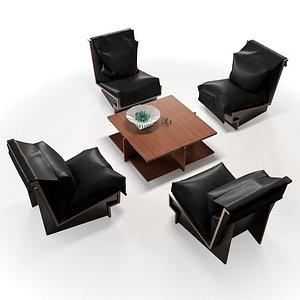 table cassina 3D model