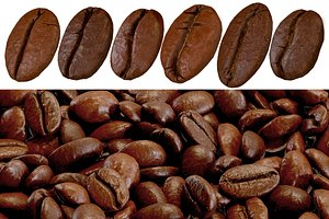 Coffee Beans Low-poly PBR 3D