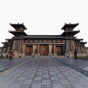 3D ancient architecture gate model