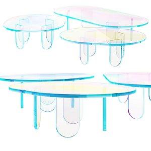 015 Multi-colored Pearl custom coffee tables 01 3D model 3D model