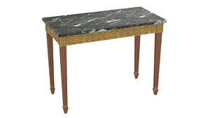 console neoclassical giltwood 3D model