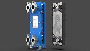 plate heat exchanger 3D
