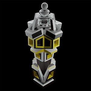 tesla tower 3D