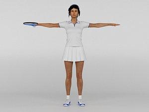 3D Female Tennis Player