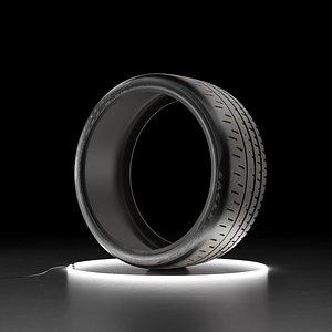 3D Car tire Bridgestone Eagle F1 SuperCar 3R