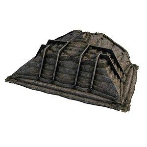 Pyramid Temple Wall 02 06 model