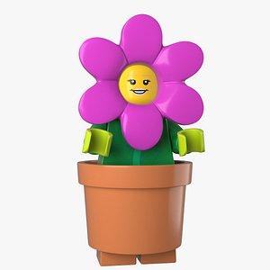 Lego Flowerpot Girl 3d model 3D model