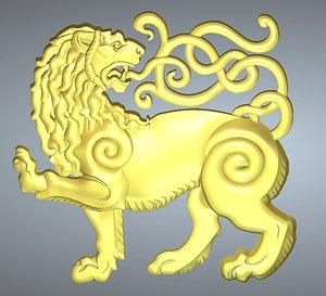 lion cnc router 3D model