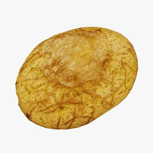 Portuguese Corn Bread - Real-Time 3D Scanned model