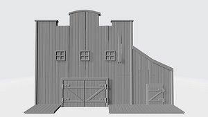 wild west stables 3D model