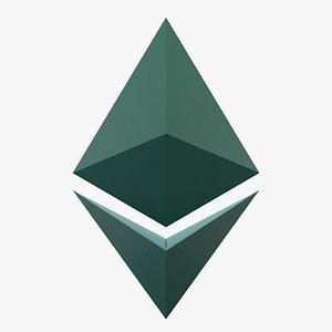 Ethereum Currency Logo 3D model