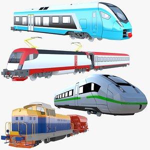 3D model Trains big collection