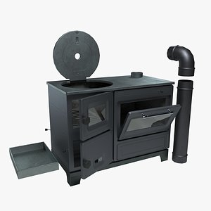 3D Functional Cast Iron Wood Stove