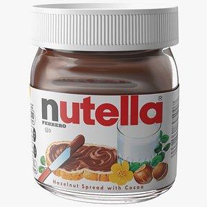 3D Nutella Chocolate Hazelnut Spread 13 oz model