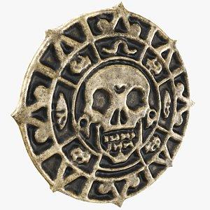 3D medal medallion pirate