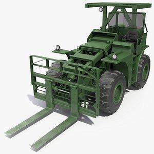 Pettibone Rough Terrain Military Forklift Green model