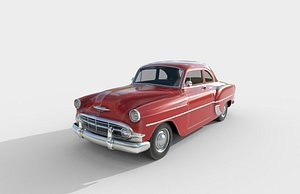3D Low Poly Car - Volkswagen 210 Club Coupe 1953