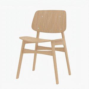 Frederica Soborg Chair Oak 3D model