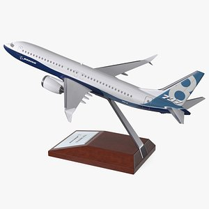 Boeing 737 Max 8 Scale Model with Stand 3D model