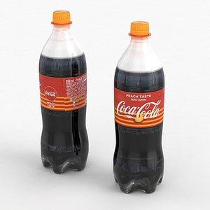 3D Beverage Bottle Coca-Cola Peach 850ml 2021 model